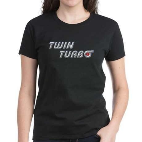 Twin Turbo Women's Dark Colored T-Shirt