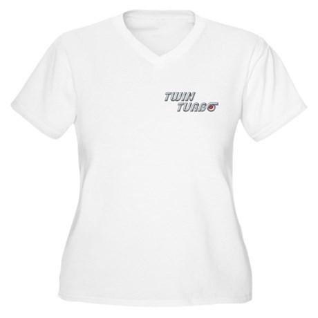 Twin Turbo Women's Plus Size V-Neck T-Shirt