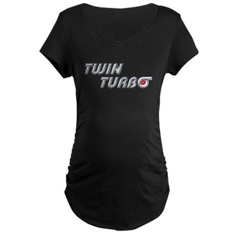 Twin Turbo Maternity Dark T-Shirt