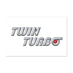 Twin Turbo Mini Poster Print