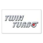 Twin Turbo Rectangle Sticker