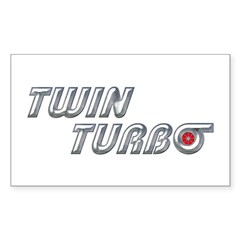 Twin Turbo Rectangle Sticker