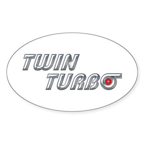 Twin Turbo Oval Sticker