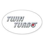 Twin Turbo Oval Sticker