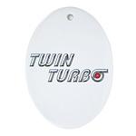 Twin Turbo Oval Ornament