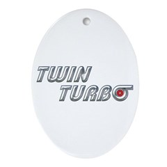 Twin Turbo Oval Ornament