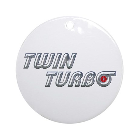 Twin Turbo Ornament (Round)