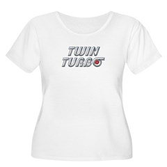 Twin Turbos Women's Plus Size Scoop Neck T-Shirt