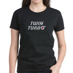 Twin Turbos Women's Black T-Shirt