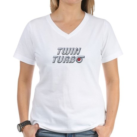 Twin Turbos Women's V-Neck T-Shirt