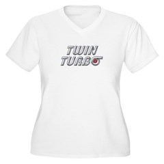 Twin Turbos Women's Plus Size V-Neck T-Shirt