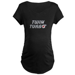Twin Turbos Maternity Dark T-Shirt