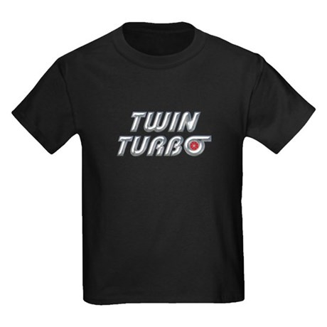 Twin Turbos Kids Black T-Shirt