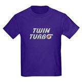 Twin Turbos Kids Dark Colored Tee-Shirt