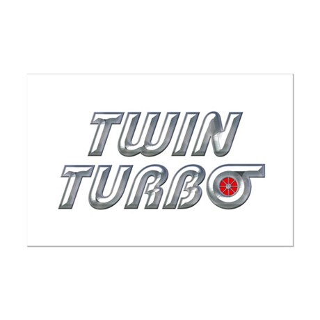 Twin Turbos Mini Poster Print