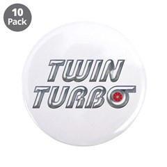 "Twin Turbos 3.5"" Button (10 pack)"