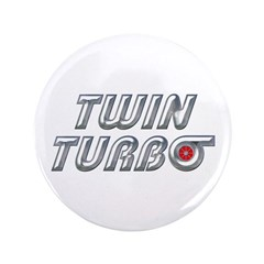 "Twin Turbos 3.5"" Button (100 pack)"