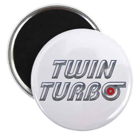 "Twin Turbos 2.25"" Magnet (100 pack)"