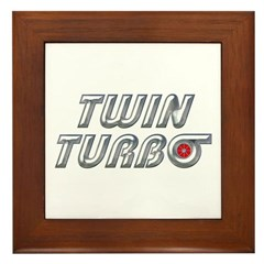 Twin Turbos Framed Tile
