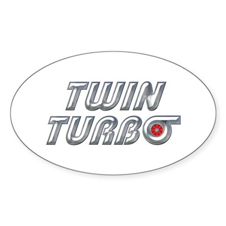 Twin Turbos Oval Sticker