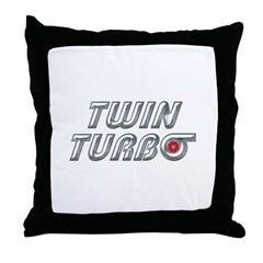 Twin Turbos Throw Pillow