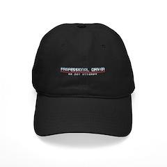Professional Driver Black Cap