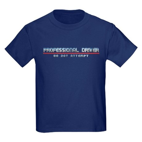 Professional Driver Kids Dark Colored T-Shirt