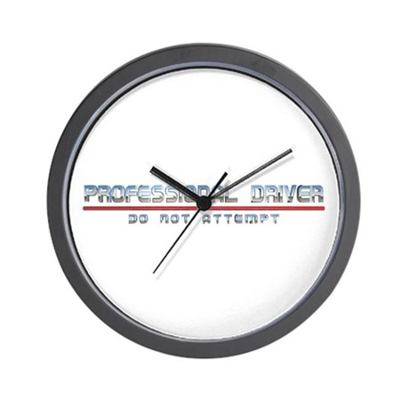 Professional Driver Wall Clock