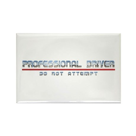 Professional Driver Rectangle Magnet (100 pack)
