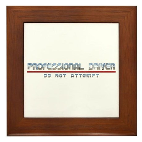 Professional Driver Framed Tile