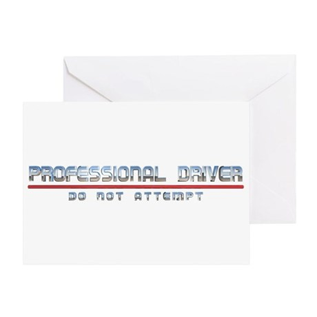 Professional Driver Greeting Card