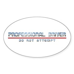 Professional Driver Oval Sticker