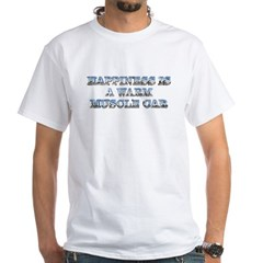 Happiness is a Warm Muscle Car T-Shirt White
