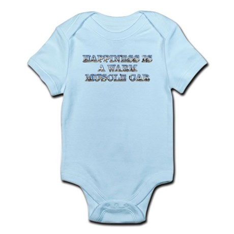 Happiness is a Warm Muscle Car Infant Bodysuit