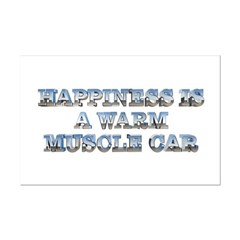 Happiness is a Warm Muscle Car Mini Poster Print