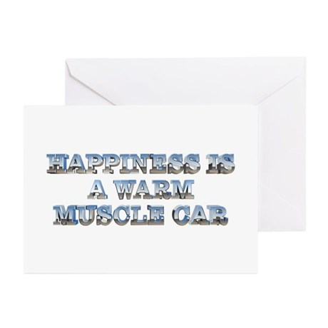 Happiness is a Muscle Car Greeting Cards (10 pack)