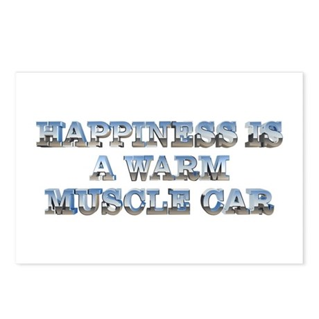Happiness is a Warm Muscle Car Postcards (8 pack)