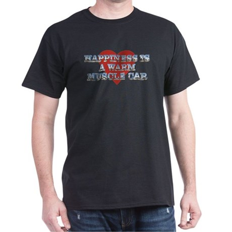 Happiness is a Musclecar II Black T-Shirt