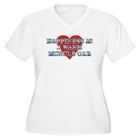 Happiness is...II Women's Plus Size V-Neck T-Shirt