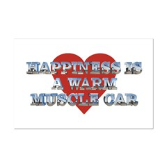 Happiness is a Musclecar II Mini Poster Print