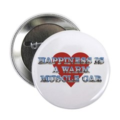 "Happiness is a Musclecar II 2.25"" Button (10 pack)"
