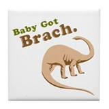 Baby Got Brach Tile Coaster