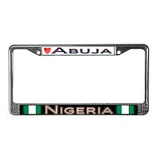 Abuja, NIGERIA - License Plate Frame