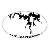 NACI (823 BLACK) Oval Decal