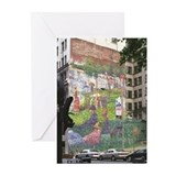 Seurat mural NYC (Pk of 10 blank cards)