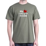 My Heart: Natalee Black T-Shirt