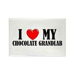 Chocolate Grandlab Rectangle Magnet