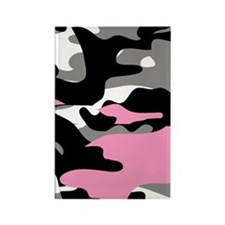PINK CAMO Rectangle Magnet