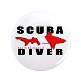 Scuba Diver: SHARK 3.5&quot; Button