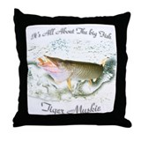 Tiger Musky, Throw Pillow